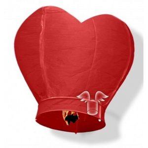 wensballon hart rood